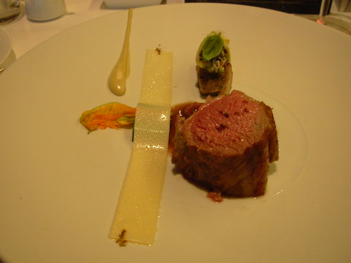 Oud Sluis June 2007 Lamb Sisteron with Courgette Floweers, Parmesan Jelly