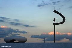 JK (vitorczik) Tags: sunset pordosol brazil sky azul arquitetura brasil df museu monumento silhouete nuvens cerrado ceu brasilia jk archtecture bsb arcos silhueta