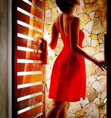 Framing red (AraiGodai) Tags: light portrait people woman girl beautiful lady asian thailand interestingness interesting olympus resort explore thai krabi arai reddress ih araigordai exploretopten tubkaak gordai raigordai araigodai