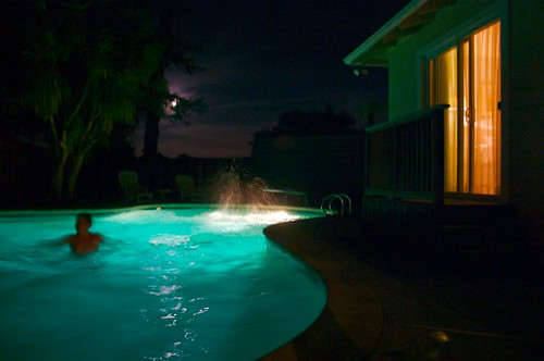 night time swimming