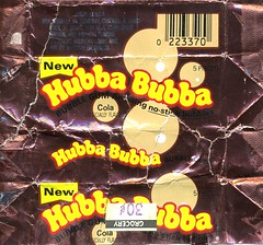 Cola Hubba Bubba gum wrapper