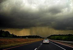 Nearby (Nicholas_T) Tags: road summer sky weather clouds lowlight highway driving pennsylvania creativecommons poconos thunderstorm cumulonimbus monroecounty i380 interstate380