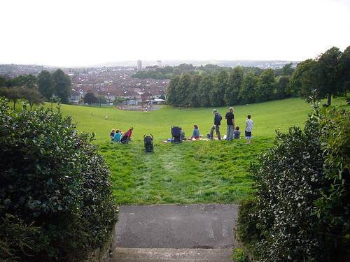 View from Perrett's Park to the west