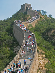 The Great Wall at Badaling (shutterBRI) Tags: china old travel mountains stone wall canon photography photo ancient crowd chinese beijing powershot historical tall badaling 2007 thegreatwall a630 shutterbri brianutesch flickrchallengegroup flickrchallengewinner brianuteschphotography