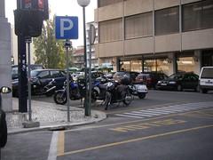 Estacionamento para motas no IST