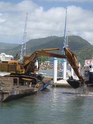 Apia marina dredge