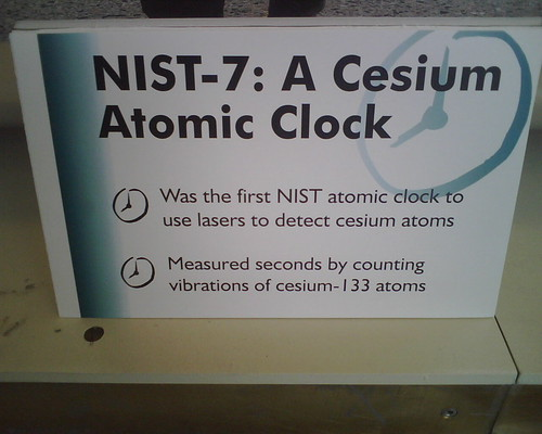 A Cesium Atomic Clock uses cesium!