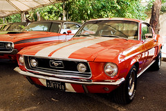 Ford Mustang little horse (poperotico) Tags: old red white ford car brasil vintage saopaulo muscle antique stripes twin carro mustang antigo jockeyclubsp brasilcollectioncars