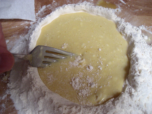 mixing pasta dough well