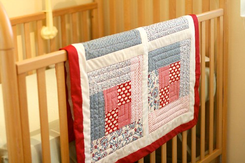 Baby Sung Quilt on Crib