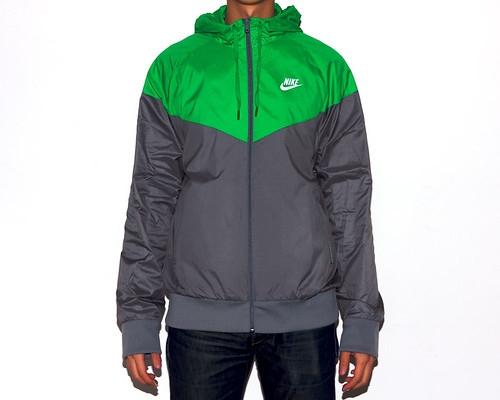 Nike Sportswear Dri-Fit Windrunner - Cool Grey/Green