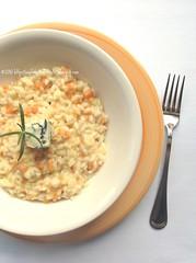 Risotto di batata rossa al gorgonzola e rosmarino