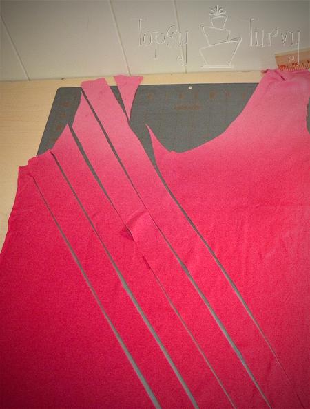 adult t shirt ruffles extra shirt pieces strips