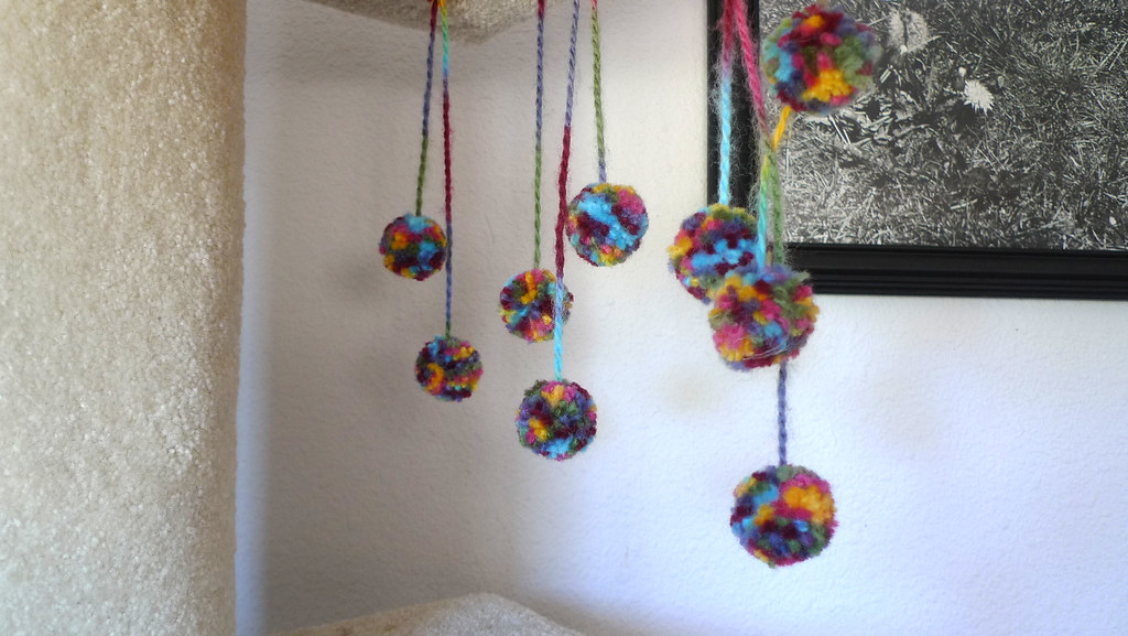 hanging pom poms