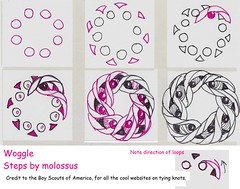 Woggle-Tangle Pattern (molossus, who says Life Imitates Doodles) Tags: tangles zentangle zendoodle tanglepattern zentangleinspiredart