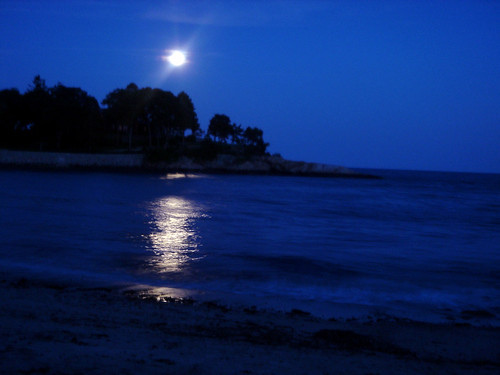 Moon over White Beach