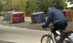 la Sam/Jackson Pollock (Fransois) Tags: street bicycle montral tribute rue saintlaurent vlo sampollock
