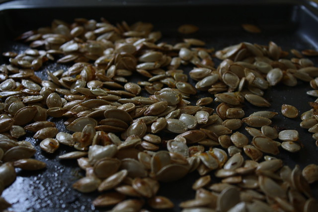pumpkin seeds, roasted