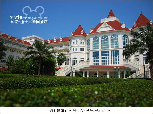 【香港住宿】跟著via玩香港(4)~迪士尼樂園酒店(外觀、房間篇)13