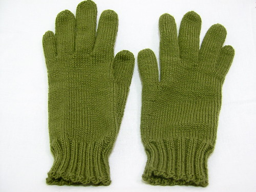 Silky vintage gloves