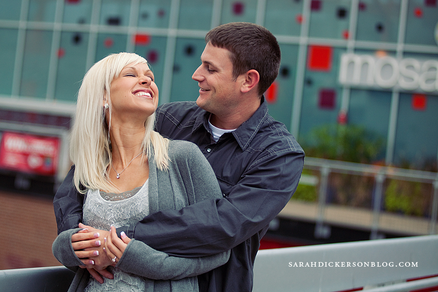 Kansas City Power and Light District engagement photography
