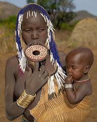 ET07-10 (Sergio Pessolano) Tags: africa portrait woman portraits tribal lips tribes afrika ethiopia tribe ethnic lipplate lipplates