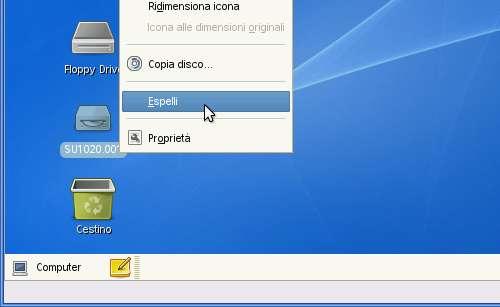 VirtualBox - Guest Additions - SUSE: espulsione ISO dal CD/DVD della macchina virtuale
