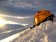 Yellow - lut (Rod Chile) Tags: chile sunset mountain snow nieve 7 9 tent explore montaa metropolitana carpa regin cajndelmaipo lagunillas specland abigfave p1f1