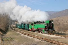 Bulgaria State Railways, narrow gauge steam excursion, February, 2