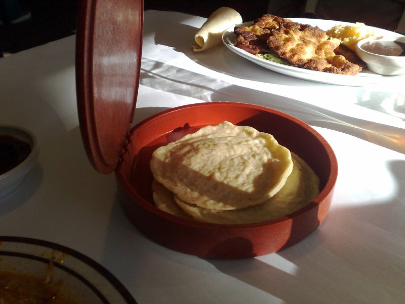 Hand made corn tortillas