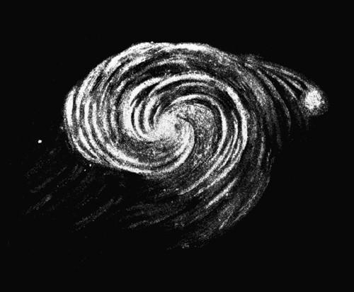 El habia dibujado un boceto de la galaxia Whirlpool 44 años antes: