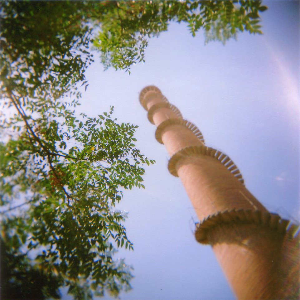 The chimney of the old Bóbila Almirall in Terrassa, Australia. The world's tallest chimney with a spiral staircase.