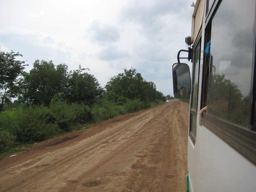 The bus to the Cambodia-Thailand border
