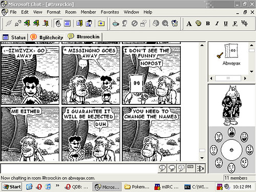screenshot Microsoft Chat comic