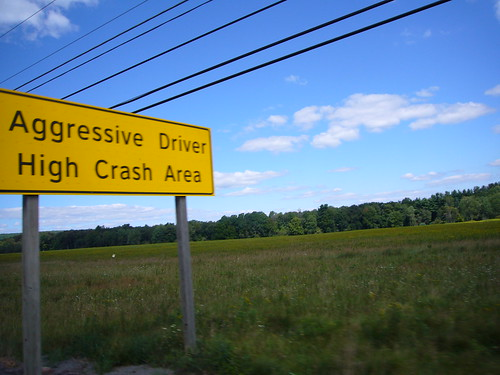 pa high crash area sign