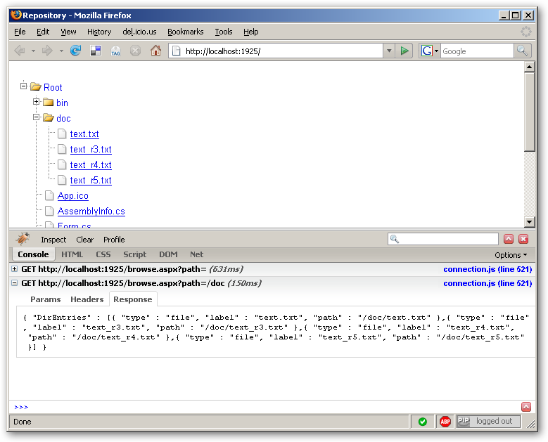 FireBug Console XHR monitoring
