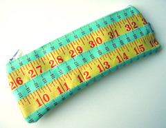 Yellow and Green Measuring Tape Case