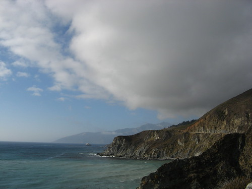 Clouds along the coastline