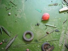 Exterior- Hierba _b _O2_107.JPG (Teo Navarro Abati) Tags: green wheel ball shoe object objects things cosas objetos dirt urbannature float pontevedra escombros objeto pelota ruedas dense zapatilla cangas densidad pantufla