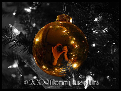 self portrait in an ornament...with the new camera