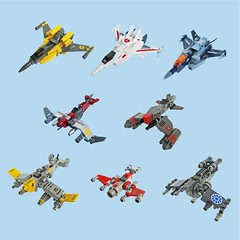 Old vs New Dogfighters (Fredoichi) Tags: fun lego space military micro fighters combat swoosh skyfi microscale dogfighters fredoichi vrrrooomtakatakataka