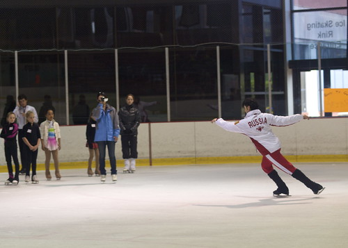 Johnny Weir Skating Clinic
