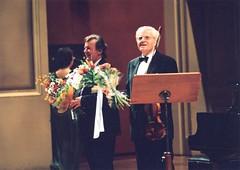 Josef Suk s Marianem Lapanskm na Praskm jaru /19.5.2004/ (Prague Spring Festival) Tags: suk archiv praskjaro lapansk 2004018