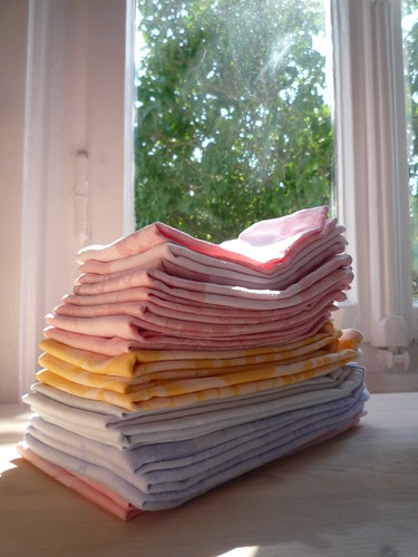 One can use cloth napkins instead of paper serviettes...