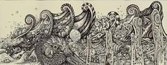 Contribution to Crftyscrapper's Journal (molossus, who says Life Imitates Doodles) Tags: art journal tangle zentangle zendoodle molyexchange zentangleinspiredart