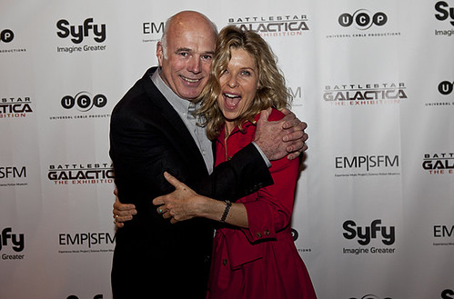 kate vernon pictures. Michael Hogan amp; Kate Vernon at the opening night of Battlestar Galactica: The Exhibition at EMP/SFM.