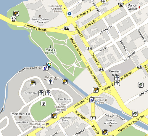 Ottawa Geocaching Map