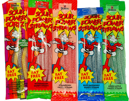 Sour Power Straws