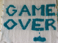 Space Invaders pillow back
