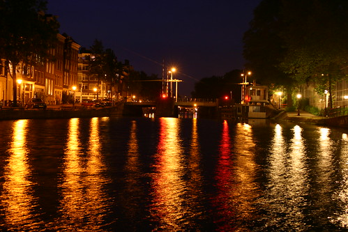 Canals at Night in Amsterdam